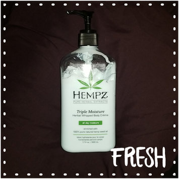Photo of Hempz Triple Moisture Herbal Whipped Body Crème, 17 Fluid Ounce uploaded by Kristi H.