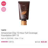 tarte Amazonian Clay 12-hour Full Coverage Foundation uploaded by Elizabeth A.