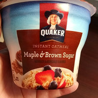 Quaker® Instant Oatmeal Cups Maple & Brown Sugar uploaded by Paige B.