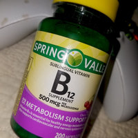 Spring Valley Vitamin B12 Sublingual 500 mcg uploaded by Kayle H.
