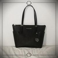 Michael Kors Sutton Medium Saffiano Leather Satchel Handbag in Black uploaded by Andrea T.