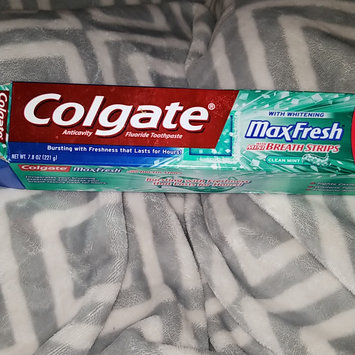 Photo of Colgate® MaxFresh® WITH MINI BREATH STRIPS Clean Mint Fluoride Toothpaste uploaded by Jenny G.