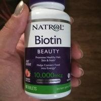 Natrol Biotin 10,000 mcg Fast Dissolve, Tablets, Strawberry, 60 ea uploaded by Brittney V.