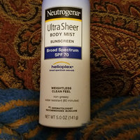 Neutrogena® Ultra Sheer® Body Mist Sunscreen Broad Spectrum SPF 100+ uploaded by andrea t.