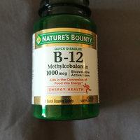 Nature's Bounty Methylcobalamin Vitamin B-12 1000 mcg uploaded by naf C.