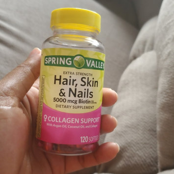 Spring Valley Hair Skin Nails Biotin 5000mcg