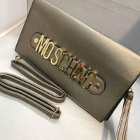 Moschino Quilted Logo Makeup Case, Size One Size - Black/ Gold uploaded by Jade B.