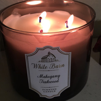 Bath Body Works White Barn Mahogany Teakwood 3 Wick Candle