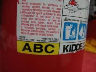 Kidde Pro 10 TCM ABC Fire Extinguisher 466204 uploaded by Brianna M.