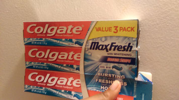 Photo of Colgate® MaxFresh® with WHITENING MINI BREATH STRIPS Toothpaste Cool Mint uploaded by Emoni F.