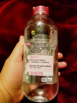 Garnier Skinactive Micellar Cleansing Water All-in-1 Makeup Remover & Cleanser 3 oz uploaded by Iliana Q.