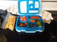 Bentgo Kids Children's Lunch Box - Bento-styled Lunch Solution Offers Durable, Leak-proof, On-the-go Meal and Snack Packing (Blue) uploaded by Tawny H.