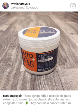 Photo of Nip + Fab Exfoliate Glycolic Fix Night Pads Extreme uploaded by Svetlana M.