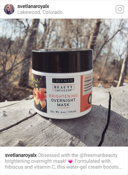 Photo of Freeman Beauty Infusion Brightening Overnight Mask with Hibiscus + Vitamin C uploaded by Svetlana M.