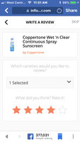 Coppertone Wet 'n Clear Continuous Spray Sunscreen uploaded by Pamela B.