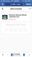 Planters Deluxe Whole Cashews Can uploaded by Pamela B.