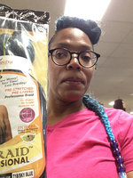 EZ Braid Professional 20 inches 1 Pack (Pre-Stretched) Braiding Hair (Color 1B/Off Black) uploaded by Shadena L.
