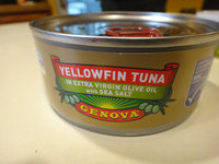 Genova® Yellowfin Tuna in Olive Oil 7 oz. Can uploaded by Justin D.