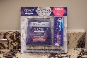 Advanced Seal Crest 3D White Luxe Whitestrips Glamorous White - Teeth Whitening Kit 14 Treatments uploaded by Katie M.