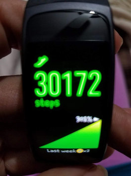 Photo of Samsung - Gear Fit2 Fitness Watch + Heart Rate (small) - Blue uploaded by Angie H.