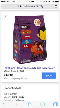 Hershey's Halloween Assorted Candy, 55 count uploaded by Logan H.