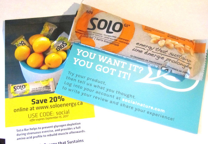 Photo of SoLo Low Glycemic Nutrition Bar uploaded by Jessica E.