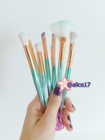 Professional 11Pcs Mermaid Makeup Brushes Set Foundation Blending Powder Eyeshadow Eyeliner Lip Cosmetic Beauty Tools Kit uploaded by 🖤 Alice 🦇 G.
