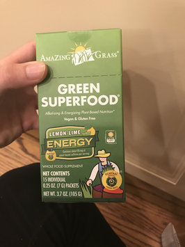 Photo of Amazing Grass - Green SuperFood Energy Drink Powder Lemon Lime - 15 Packets uploaded by Elizabeth D.
