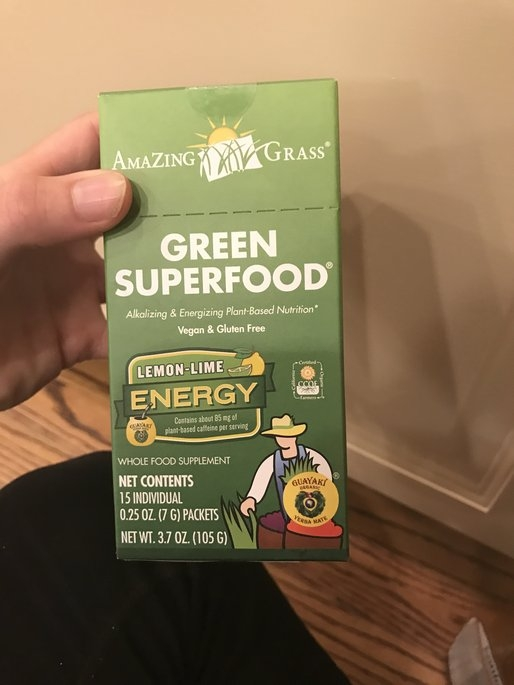 Amazing Grass - Green SuperFood Energy Drink Powder Lemon Lime - 15 Packets uploaded by Elizabeth D.