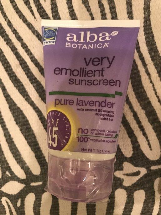 Alba Very Emollient Pure Lavender Sunscreen SPF 45- 4oz uploaded by Elizabeth D.