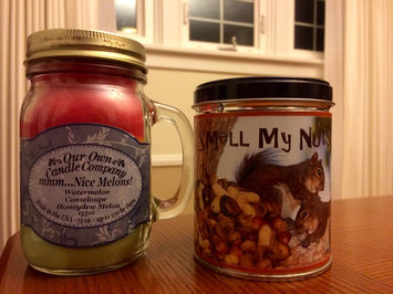 Photo of Our Own Candle Company Smell My Nuts Scented Mason Jar Candle, 13 oz. [1] uploaded by Sarah S.