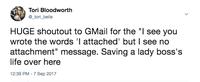 Gmail uploaded by Tori B.