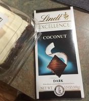 Lindt Dark Coconut Excellence Bar uploaded by Yazmin M.