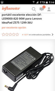Photo of Superb Choice DF-LE09000-820 90W Laptop AC Adapter for Lenovo IdeaPad Z575 1299-36U uploaded by katherine s.