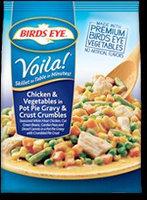 Birds Eye Voila! Chicken & Vegetables in Pot Pie Gravy & Crust Crumbles uploaded by roselle m.