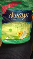 Always Ultra Thin Size 2 Long Super Pads With Wings Unscented uploaded by Ingrid S.