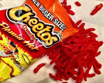 Cheetos Flamin' Hot Crunchy Cheese Flavored Snacks uploaded by vanessa r.