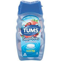Tums Smoothies Extra Strength 750 Berry Fusion Antacid/Calcium Supplement Chewable Tablets - 60 CT uploaded by Christie T.