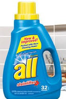 All 2X Ultra Oxi-Active Stainlifter High Efficiency Liquid Laundry Detergent uploaded by Christie T.