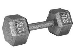 Photo of Weider 20 lb. Hex Dumbbell - WEIDER HEALTH AND FITNESS uploaded by Christie T.