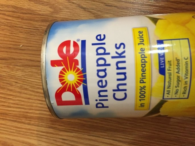 Dole Canned Fruit: Chunks In Its Own Juice Pineapple uploaded by Kim A.