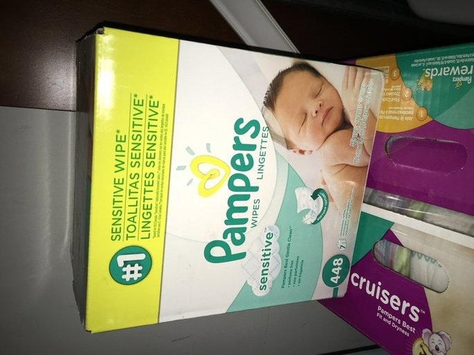 Pampers Sensitive Baby Wipes Refills Sensitive 9 Pack uploaded by Emily S.