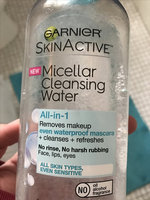 Garnier Skin Skinactive Micellar Cleansing Water All-In-1 Cleanser and Waterproof Makeup Remover uploaded by Emily T.