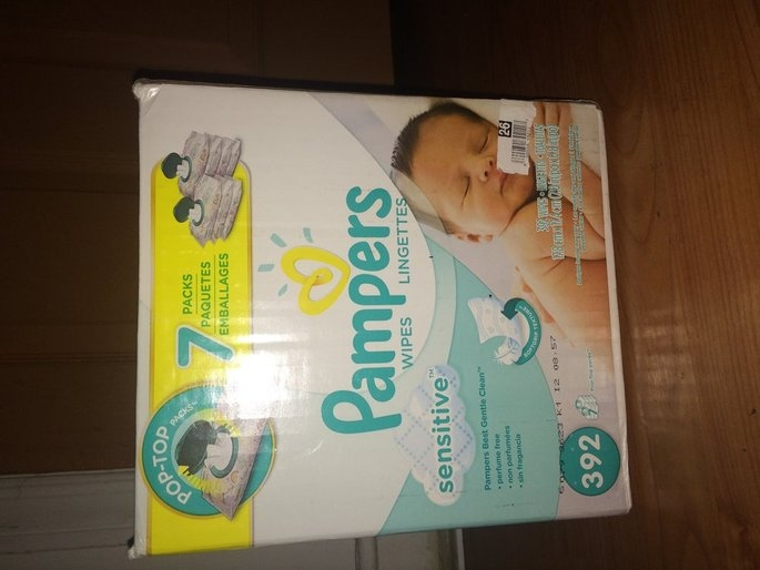 Pampers Sensitive Baby Wipes Refills Sensitive 9 Pack uploaded by Shawdenay H.