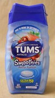 Tums Smoothies Smooth Dissolve Extra Strength 750 Berry Fusion - 750 mg - 60 Chewable Tablets Pack of 4 uploaded by April T.