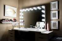Impressions Vanity Co. Hollywood Glow(TM) Plus Bt Vanity Mirror With Bluetooth Speakers, Size One Size - White uploaded by Krista G.