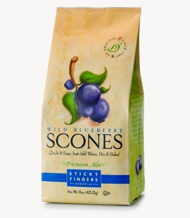Sticky Fingers Bakeries Wild Blueberry Scone Mix, 15 Ounce -- 6 per case. uploaded by Summer B.