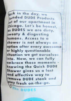 Photo of Dude Products Naturally Soothing Aloe and Hypoallergenic Shower Replacement Wipes uploaded by Jessica E.
