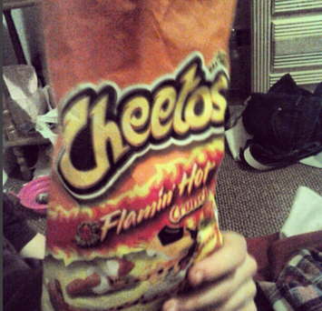 Cheetos Flamin' Hot Crunchy Cheese Flavored Snacks uploaded by Kayla S.