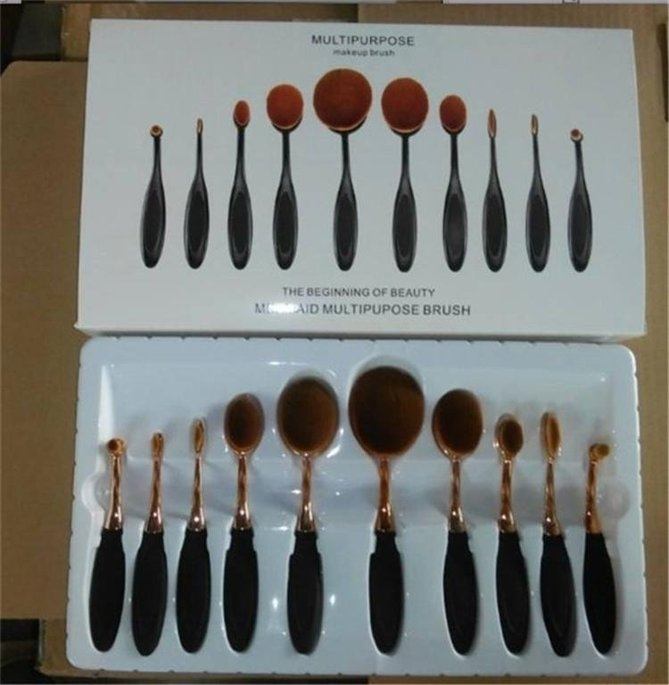 KINGMAS® Oval Makeup Brush Cosmetic Foundation Cream Powder Blush Makeup Tool uploaded by cesilia j.